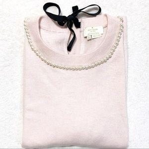 KATE SPADE Round Neck/Pearls Short Sleeves